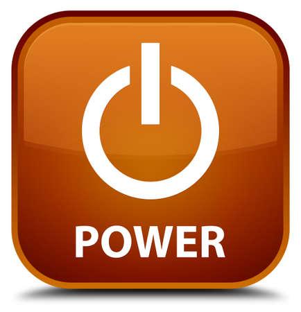 shutdown shut down: Power brown square button