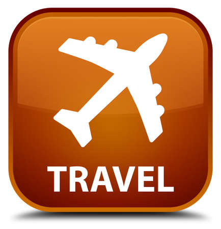 airway: Travel (plane icon) brown square button