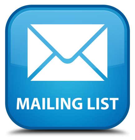 flysheet: Mailing list cyan blue square button