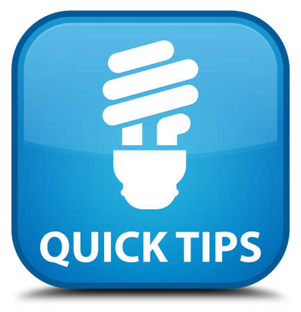 hints: Quick tips (bulb icon) cyan blue square button