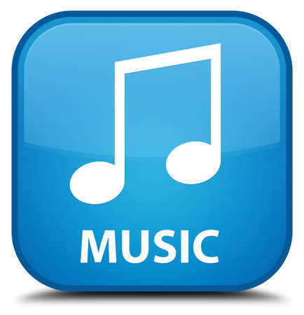 tune: Music (tune icon) cyan blue square button