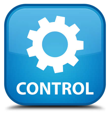 control tools: Control (settings icon) cyan blue square button