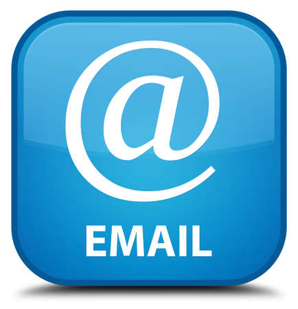 email address: Email (address icon) cyan blue square button Stock Photo