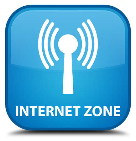 wlan: Internet zone (wlan network) cyan blue square button