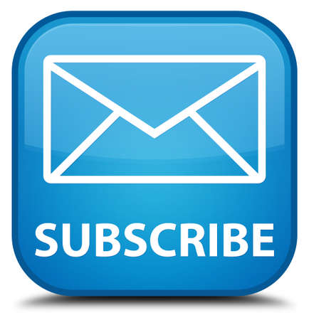subscribe: Subscribe (email icon) cyan blue square button