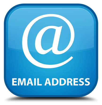 email address: Email address cyan blue square button Stock Photo