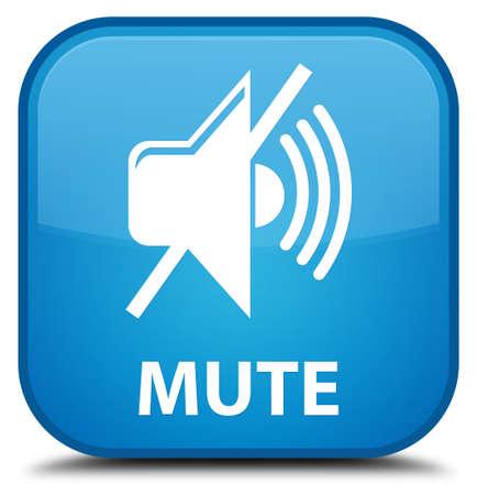 cyan: Mute cyan blue square button
