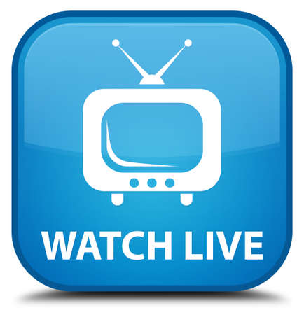 tv station: Watch live cyan blue square button