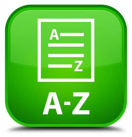 az: A-Z (list page icon) green square button