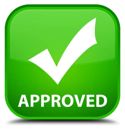 valid: Approved (validate icon) green square button