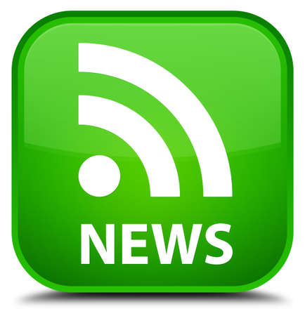 news current events: News (RSS icon) green square button