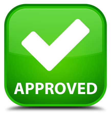 available: Approved (validate icon) green square button