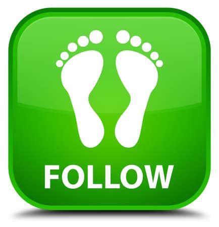 green footprint: Follow (footprint icon) green square button