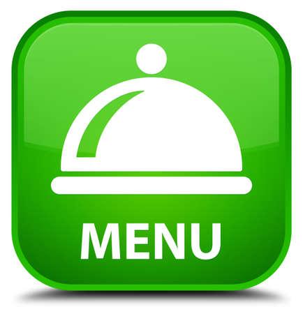 cater: Menu (food dish icon) green square button