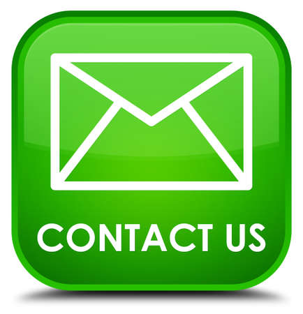 email contact: Contact us (email icon) green square button