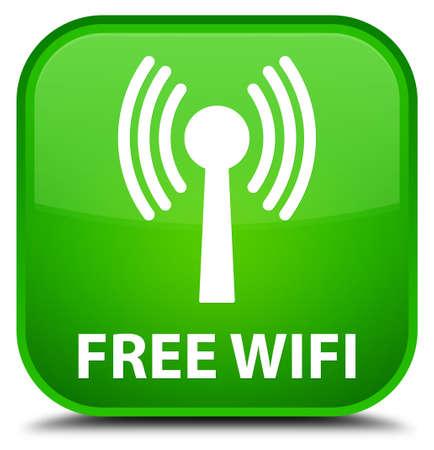 wlan: Free wifi (wlan network) green square button