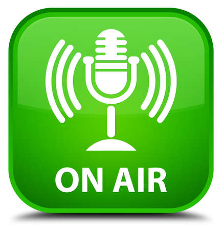 talk show: On air (mic icon) green square button