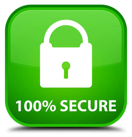 safeguarding: 100% secure green square button