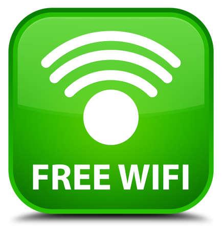 hotspot: Free wifi green square button