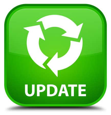 refresh icon: Update (refresh icon) green square button