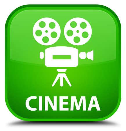 cinematographic: Cinema (video camera icon) green square button