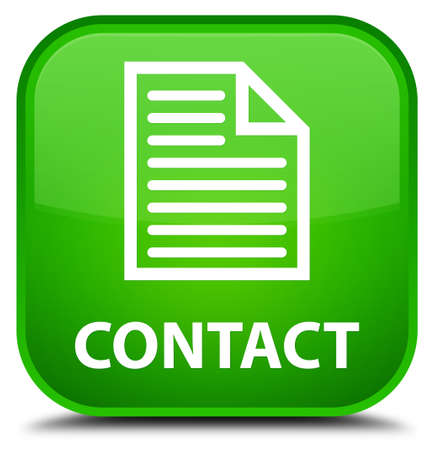 directory book: Contact (page icon) green square button