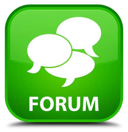 Forum (comments icon) green square button