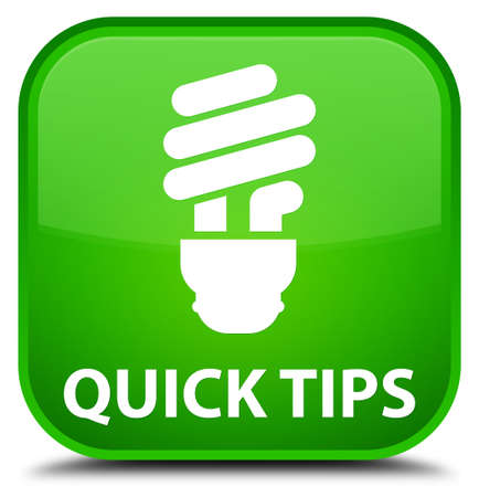hints: Quick tips (bulb icon) green square button