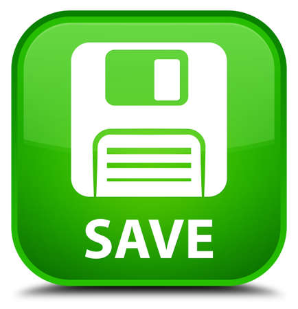Save (floppy disk icon) green square button