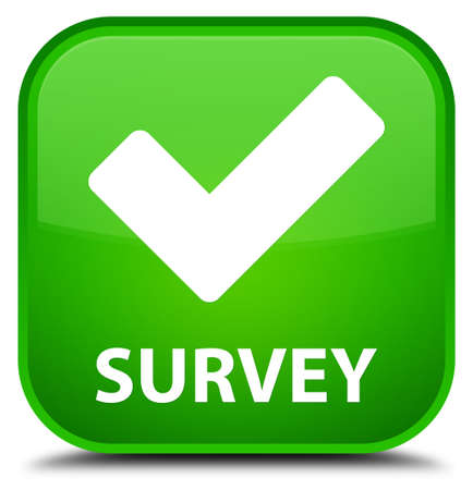 available: Survey (validate icon) green square button