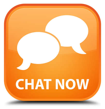 chat icon: Chat now orange square button