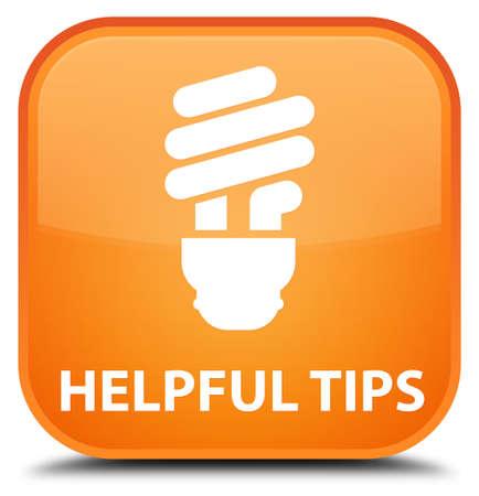 incandescence: Helpful tips (bulb icon) orange square button