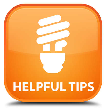 hints: Helpful tips (bulb icon) orange square button