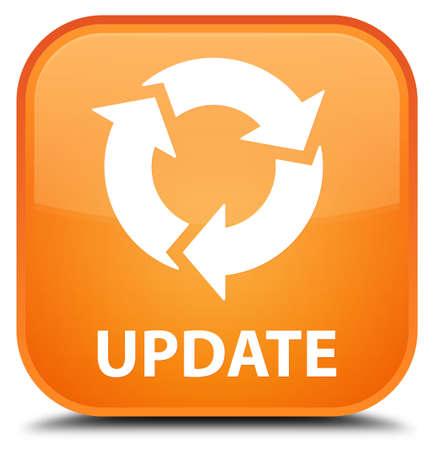 update: Update (refresh icon) orange square button