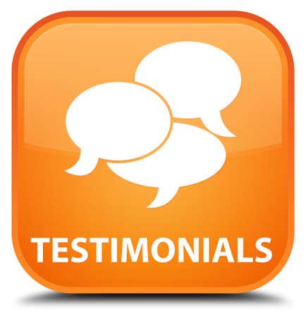 comments: Testimonials (comments icon) orange square button