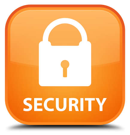 insecure: Security (padlock icon) orange square button