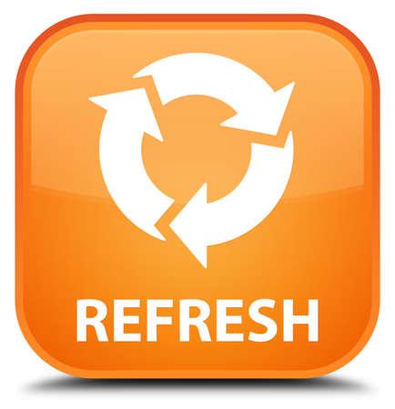 refresh button: Refresh orange square button Stock Photo