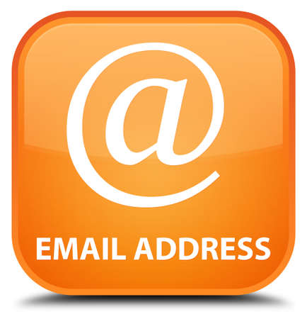email address: Email address orange square button Stock Photo