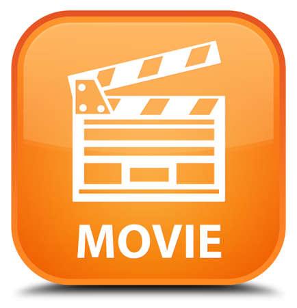 directors cut: Movie (cinema clip icon) orange square button