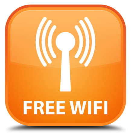 crossover: Free wifi (wlan network) orange square button