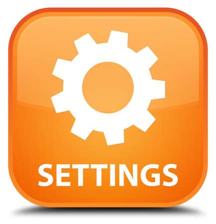 preference: Settings orange square button