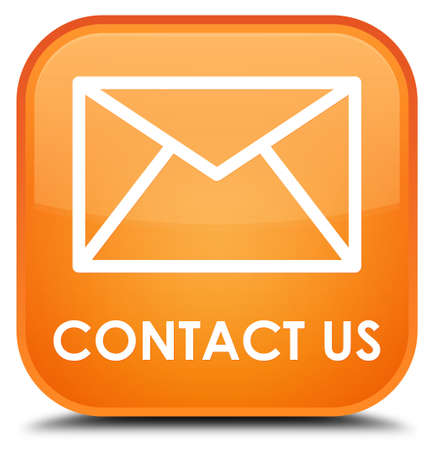 email contact: Contact us (email icon) orange square button