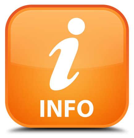 inquiry: Info orange square button Stock Photo