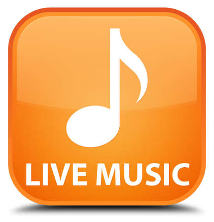 live music: Live music orange square button