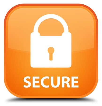 key hole shape: Secure (padlock icon) orange square button