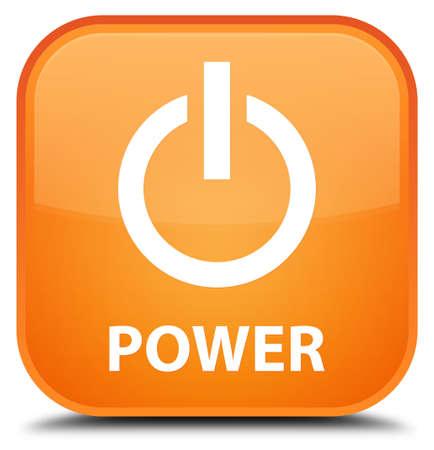 shut off: Power orange square button