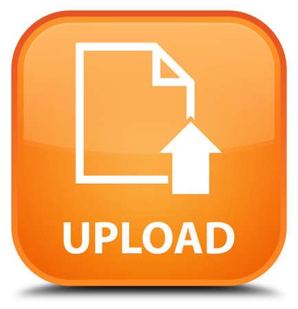 uploading: Upload (document icon) orange square button