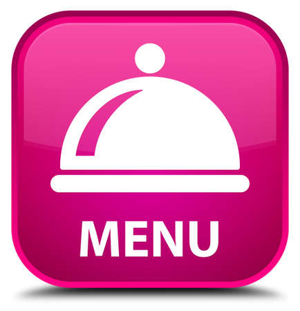 cater: Menu (food dish icon) pink square button