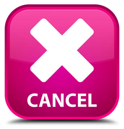 cancel: Cancel pink square button