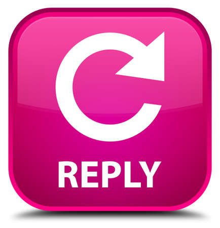 rotate: Reply (rotate arrow icon) pink square button